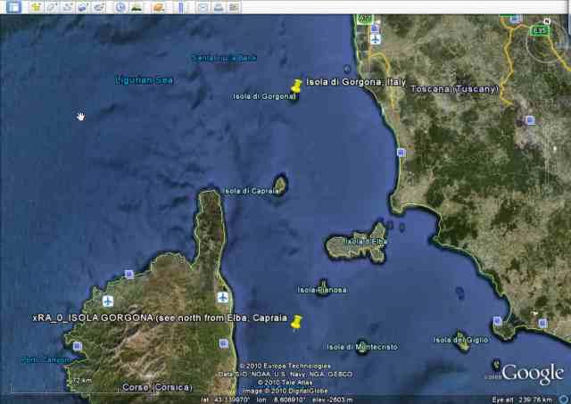 Isola Gorgona - shifted south