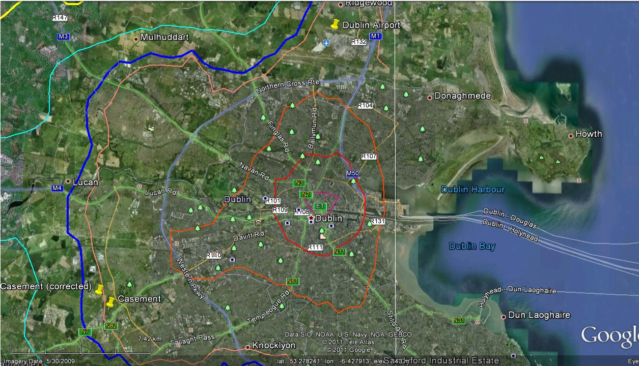 Dublin contours from F16_2006 TIFF